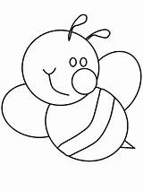 Bee Bumble Coloring Pages Cute Print sketch template