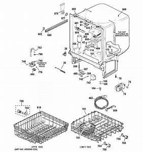 Ge Model Gsd2100v50bb Dishwasher Genuine Parts