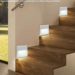 Wandeinbauleuchten Für Treppen : 6 10 x venezia led edelstahl 230v treppenlicht wand ~ Watch28wear.com Haus und Dekorationen