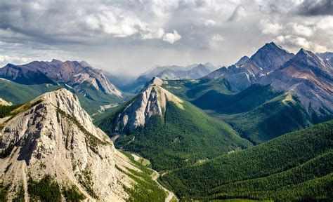 Mountain Landscape In The Background Canada Hd ...