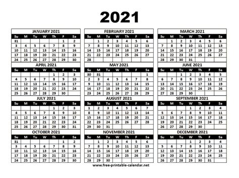 Free, easy to print pdf version of 2021 calendar in various formats. 2021 Calendar Template - Download Printable templates.