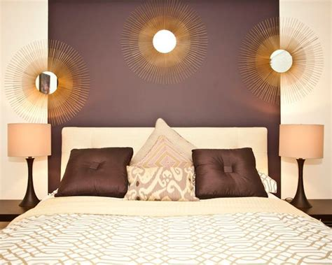 Purple, Gold and Cream Bedroom - Interiors By Color