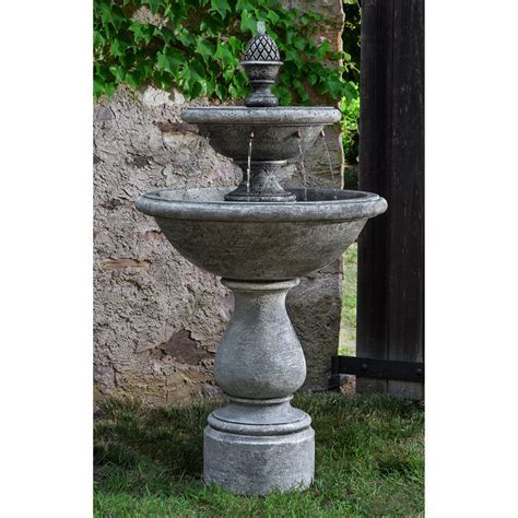Campania International Charente 2 Tier Outdoor Fountain
