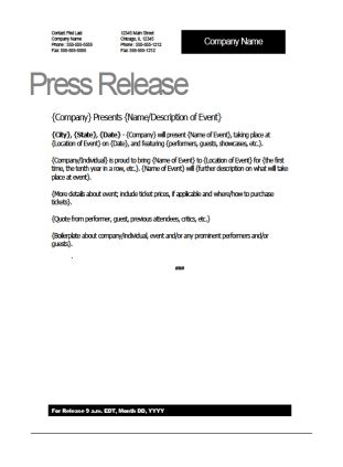 free press release template top 5 resources to get free press release templates word templates excel templates