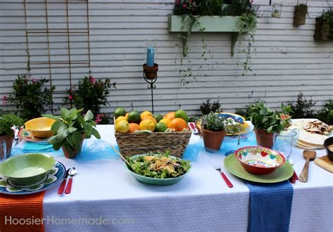 Easy Summer Entertaining How To Set Your Table Hoosier