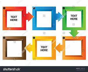 Square Flow Chart Presentation Template Process Stock