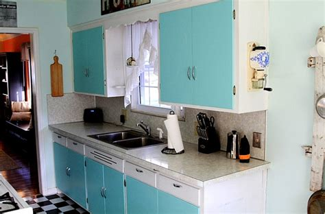 turquoise kitchen canisters retro kitchens that spice up your home