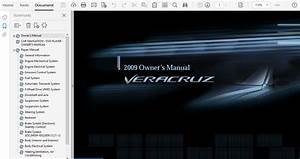 2009 Hyundai Veracruz Repair Manual