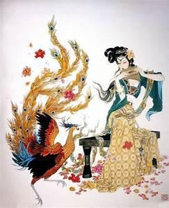 Chinese Phoenix Painting phoenix 2734014, 70cm x 90cm(27 ...