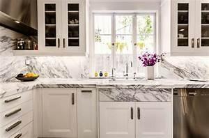 Plan De Travail Cuisine Marbre : plan de travail en marbre pour une cuisine ind modable ~ Melissatoandfro.com Idées de Décoration