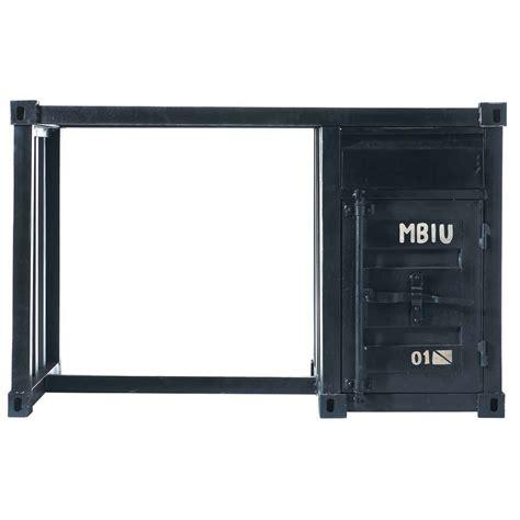 bureau container bureau container en métal noir l 123 cm carlingue