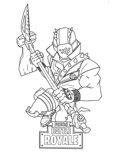 printable fortnite coloring pages  kids