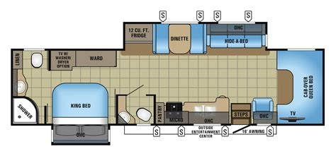 2017 seneca class c motorhome floorplans prices jayco inc