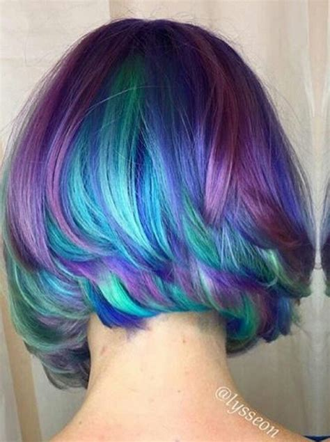 Dyed Purple Turquoise Hair Color Lysseon Colorful Hair