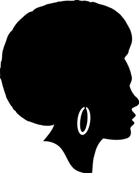 woman silhouette clip art black female afro