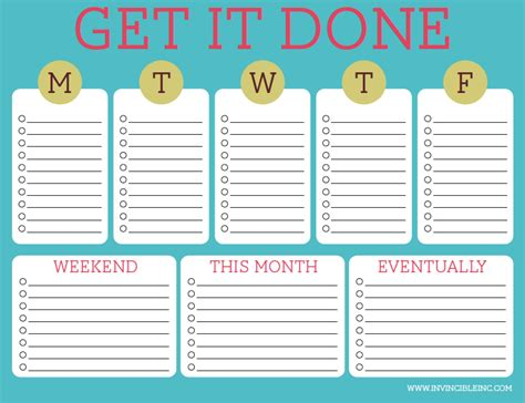 Timed To Do List Template by Organization And Time Management Part 2 Make A To Do List