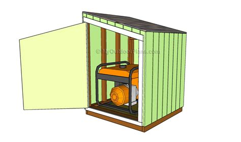 portable generator enclosure plans myoutdoorplans