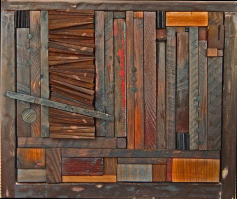 attractive wall decoration  reclaimed wood wall art