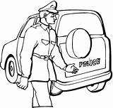 Police Coloring Station Pages Officer Drawing Officers Daisy Badges Getdrawings sketch template