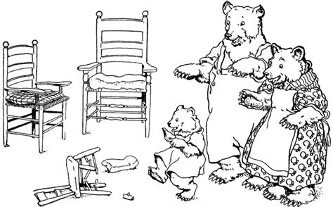 whos been lounging in my chair three bears and chairs clipart etc
