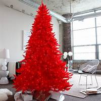 red christmas tree Red Ashley Pre-lit Christmas Tree by Sterling Tree Company ...