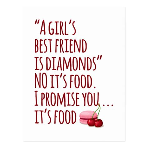 girls  friends  food funny quote postcard