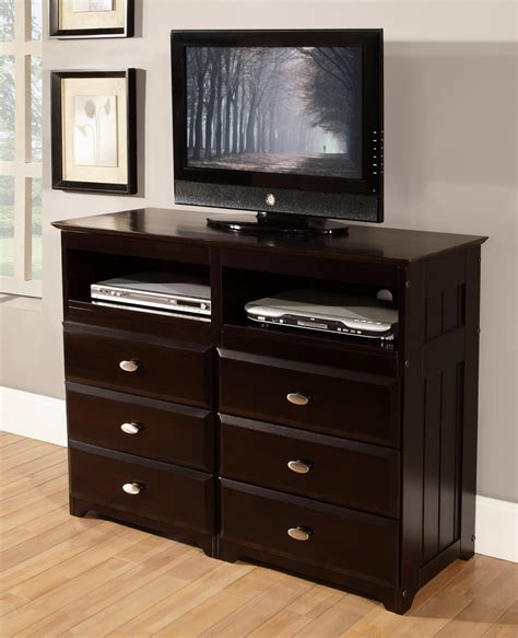 Espresso 6 Drawer Entertainment Dresser  Discovery Furniture