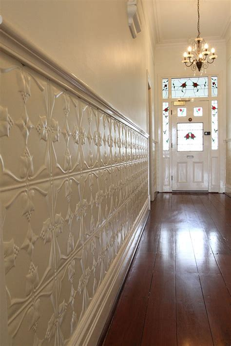 Tin Wainscoting Panels by Pressed Metal Wall Feature Our Heritage Restoration