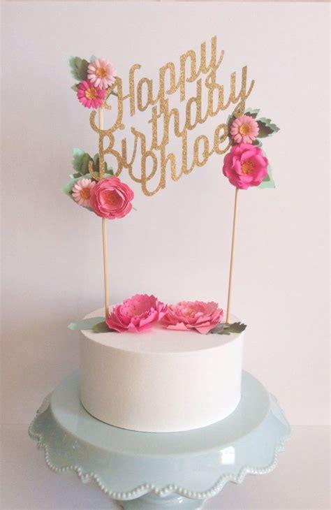 custom wedding  birthday paper cake topper personalized