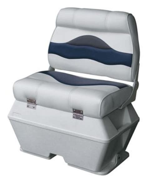 captains chair for ski boat wise premium pontoon boat captains seat with cooler