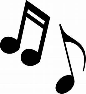 Music notes black and white clipart music note logo more ...