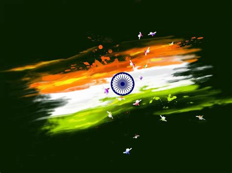 Abstract Paint India Flag for Independence Day Wallpaper