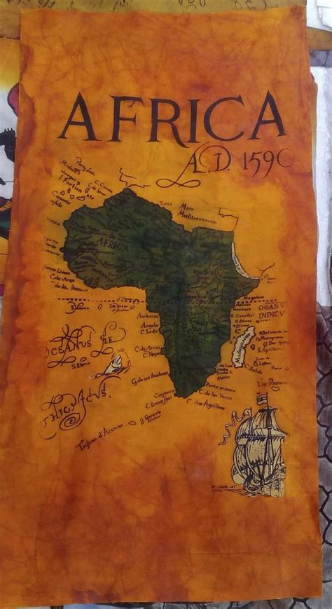 This file can be printed on size papers Africa map batik Africa art Africa map wall hanging Kenya
