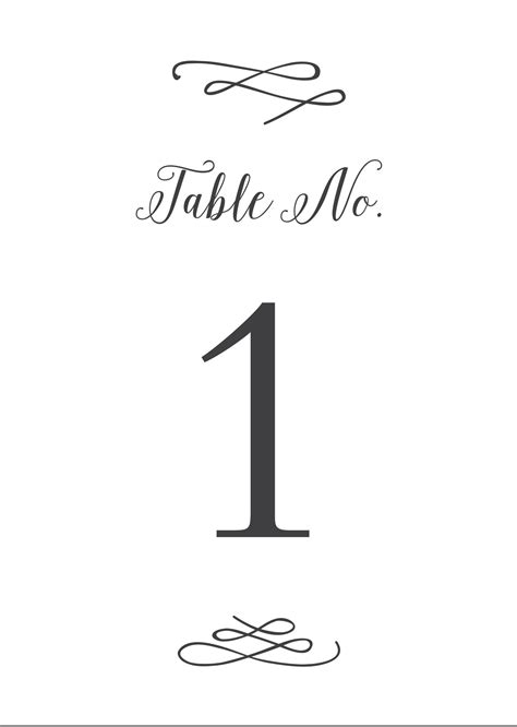 wedding table numbers printable   basic invite