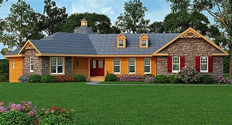 rustic ranch   car garage ja architectural designs house plans
