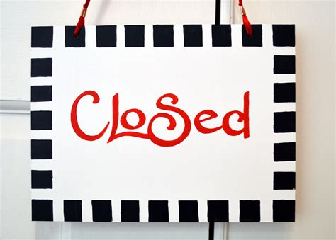 Office Closed Sign Template