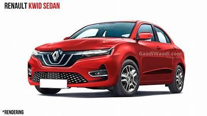 Renault Kwid Sedan Compact Launch Expected Rendered