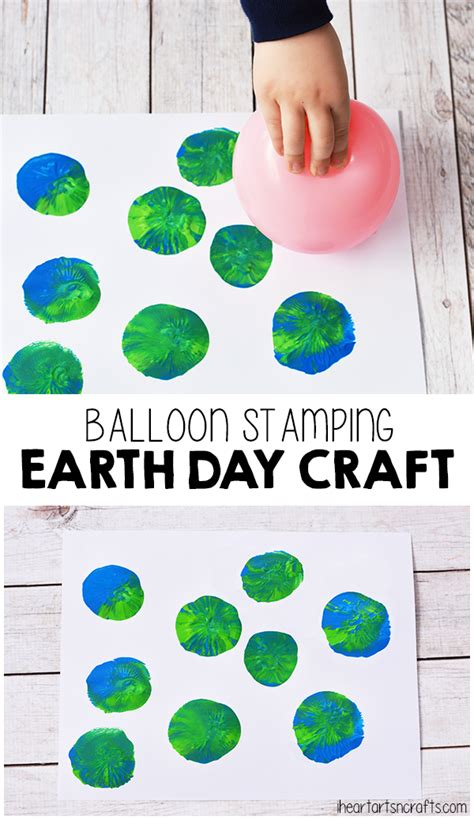 balloon stamping earth day craft for earth 138 | f2214f8830e9717eadd73be1bb235f41
