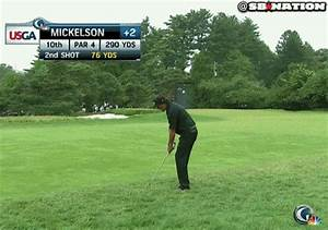 Phil Mickelson eagles No. 10, now tied for U.S. Open lead ...