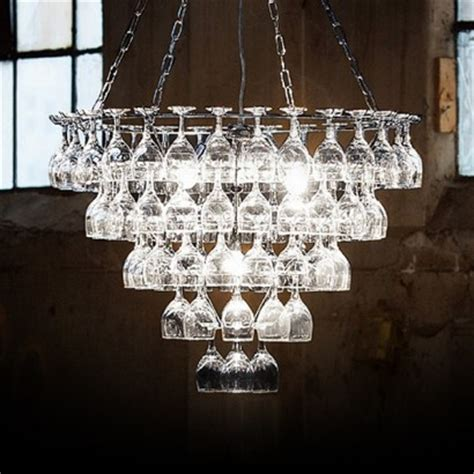 vino contemporary wine glass chandelier