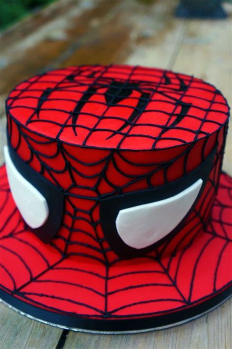 spiderman cake birthday cakes spider cool shirt party cupcake super superhero tortas grab hero visit 3rd fondant template avengers unforgettable