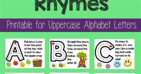 alphabet formation rhymes rhyming words uppercase