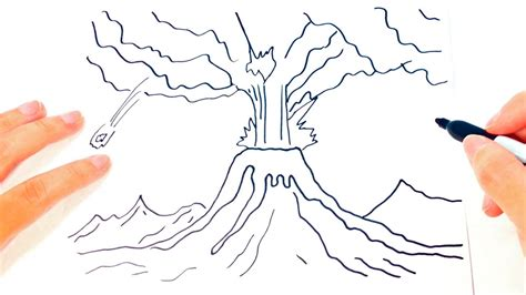 14 Volcano Drawing For Free Download On