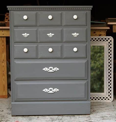 painting wood furniture pewter gray modern white