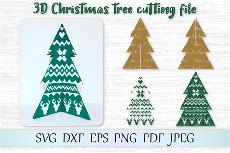 Find professional christmas tree 3d models for any 3d design projects like virtual reality (vr), augmented reality (ar), games, 3d visualization or. 3D Christmas tree svg, 3D Christmas tree template, Tree svg