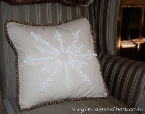 Snowflake Beaded Applique Pillow Cover Pottery Barn by Knockoff Pottery Barn Snowflake Embroidered Pillow Sweet Pea
