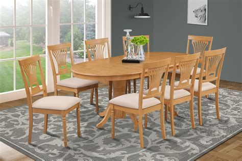 piece oval dining room table set   soft padded chairs