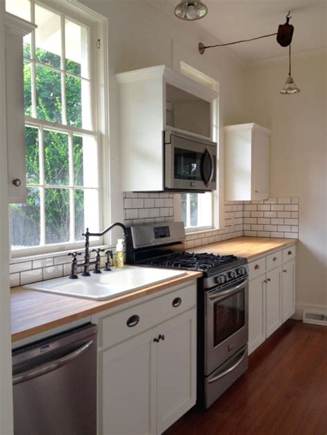 how to make a backsplash in your kitchen mercury glass butcher blocks and butcher block 9784
