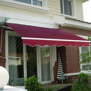 Outdoor Manual Patio Retractable Deck Awning Sunshade