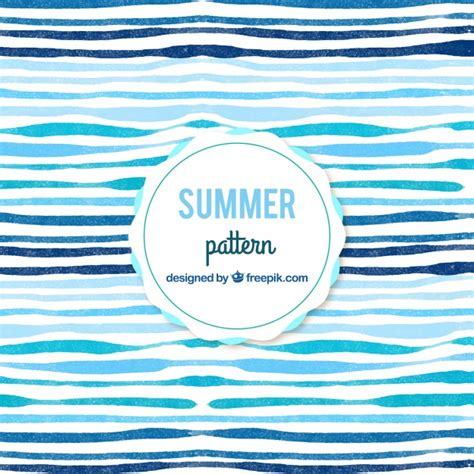 Watercolor Abstract Summer Pattern Background Vector  Free Download